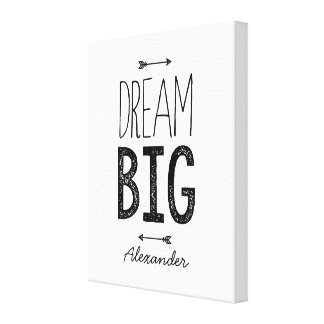 Dream Big! Personalised Wrapped Canvas