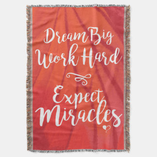 Dream Big Red Throw Blanket