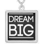 Dream Big Square Pendant Necklace