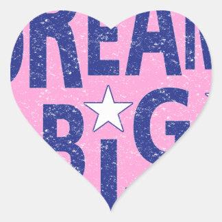 Dream big vintage heart heart sticker