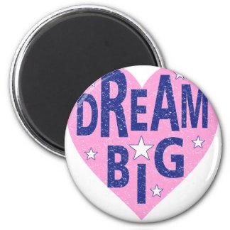 Dream big vintage heart magnet