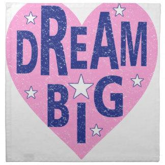 Dream big vintage heart napkin