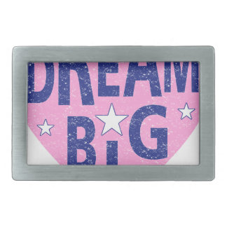 Dream big vintage heart rectangular belt buckles