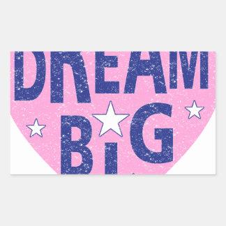 Dream big vintage heart rectangular sticker