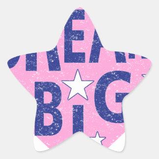 Dream big vintage heart star sticker