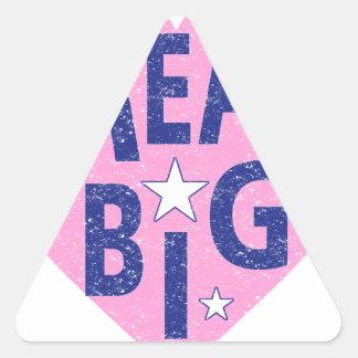Dream big vintage heart triangle sticker