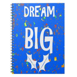 DREAM BIG wisdom script text motivational GIFTS Spiral Notebook