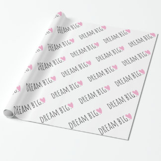 Dream Big with Heart Wrapping Paper