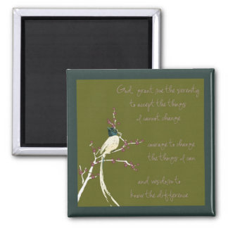 Dream Bird Serenity Prayer Magnet