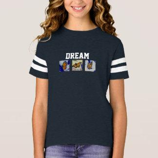 Dream Butterfly Art Girl's Football Shirt