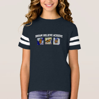 Dream Butterfly Art Girl's Football Shirt