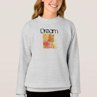 Dream Butterfly Inspiration Art Girl's Sweatshirt