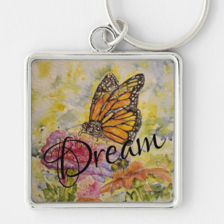 Dream Butterfly Square Key Chain