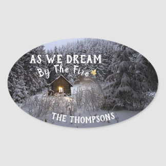Dream By The Fire - Rustic Christmas Stickers