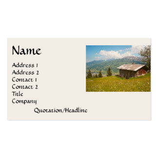 Dream Cabin Wildflower Meadow House Business Card