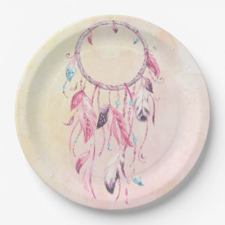 Dream Catcher Boho Paper Plate