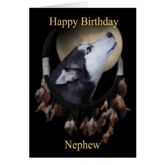 Dream Catcher Happy Birthday Nephew Card