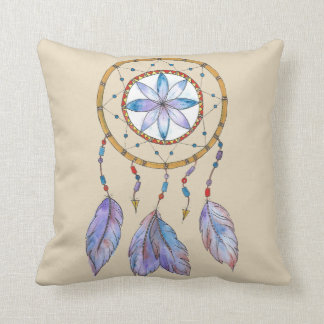 Dream Catcher in water colour throw cushion
