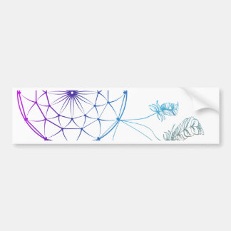 dream catcher on white background bumper sticker