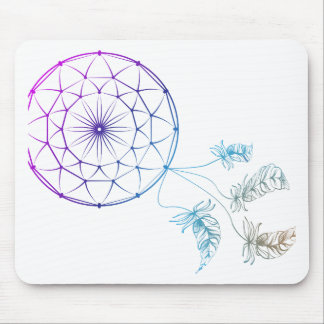 dream catcher on white background mouse pad