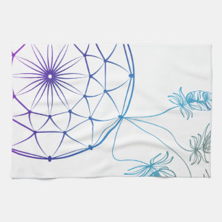 dream catcher on white background towels