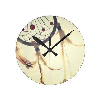 dream catcher round clock