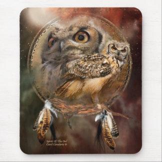 Dream Catcher Series - Spirit Of The Owls Mousepad