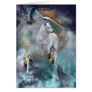 Dream Catcher Series -Spirit Wolf ArtCard Card