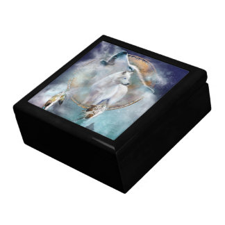 Dream Catcher - Spirit Of The Wolf Art Gift Box