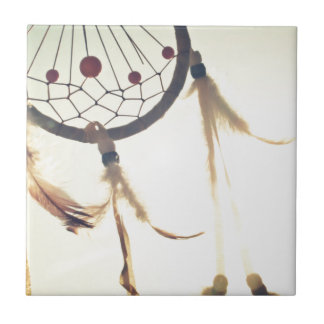 dream catcher small square tile