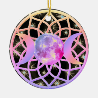 Dream Catcher Triple Goddess Ceramic Ornament