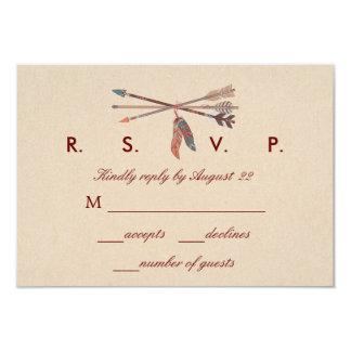 Dream Catcher Wedding RSVP Card 9 Cm X 13 Cm Invitation Card