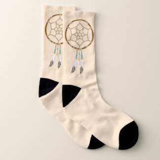 Dream Catcher with Feathers and Turquoise Beads Socks