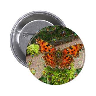 Dream Creatures, Butterfly, DeepDream 6 Cm Round Badge