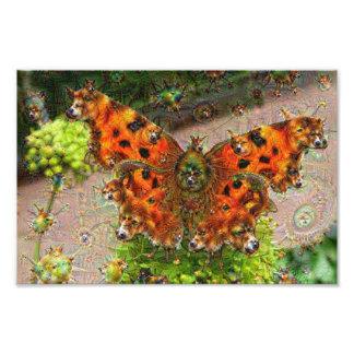 Dream Creatures, Butterfly, DeepDream Photograph