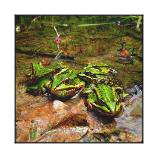 Dream Creatures, Frog, DeepDream Canvas Print