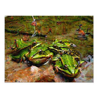 Dream Creatures, Frog, DeepDream Photo Art