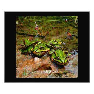 Dream Creatures, Frog, DeepDream Photo Print