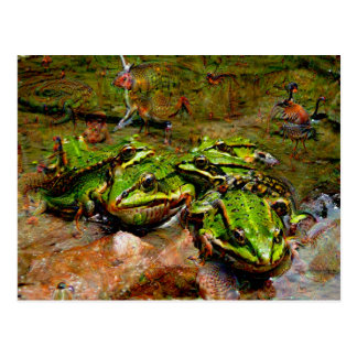 Dream Creatures, Frog, DeepDream Postcard