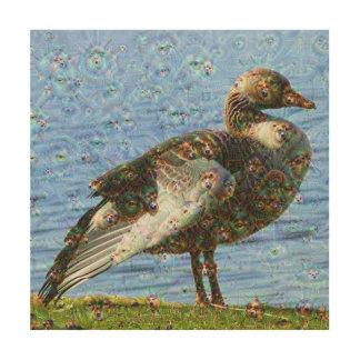 Dream Creatures, Goose, DeepDream Wood Prints