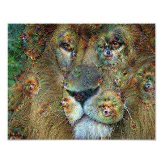 Dream Creatures, Lion, DeepDream Photo Print