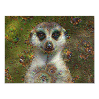 Dream Creatures, Meerkat, DeepDream Photo Art