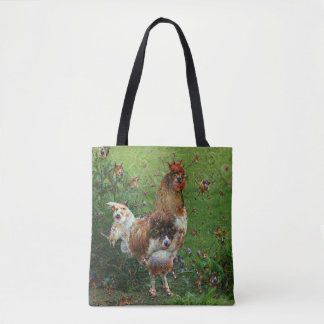 Dream Creatures, Rooster, DeepDream Tote Bag