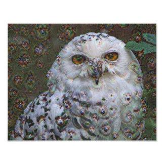 Dream Creatures, Snowy Owl, DeepDream Art Photo