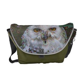 Dream Creatures, Snowy Owl, DeepDream Courier Bag