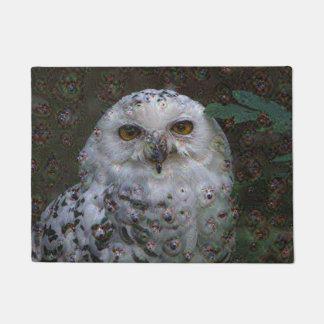 Dream Creatures, Snowy Owl, DeepDream Doormat