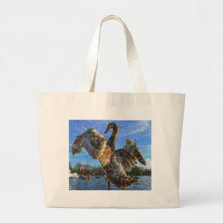 Dream Creatures, Swan, DeepDream Jumbo Tote Bag