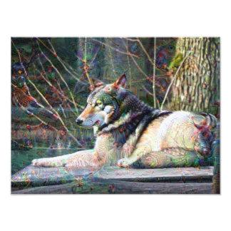 Dream Creatures, Wolf, DeepDream Art Photo