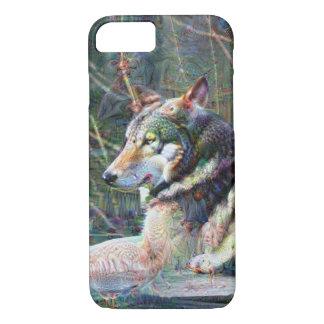 Dream Creatures, Wolf, DeepDream iPhone 8/7 Case