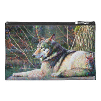 Dream Creatures, Wolf, DeepDream Travel Accessory Bags
